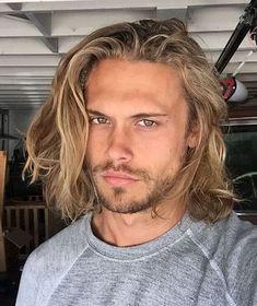 Long Length Haircuts, Mens Medium Length Hairstyles, Boys Long Hairstyles, Haircuts For Men, Haircuts For Long Hair, Modern Haircuts, Wedding Hairstyles, Men Blonde Hair, Medium Blonde Hair