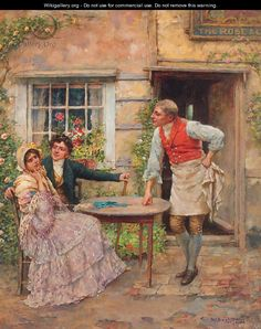 Outside of the Rose and Crown, William A. Breakspeare