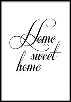 Schwarz-weißes Plakat mit Typografie, home sweet home. Black and white poster with typography, home sweet home. Image Tumblr, Wall Prints, Poster Prints, Collage Mural, Desenio Posters, Mode Poster, Poster Poster, Sweet Home, Black And White Posters