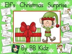 This is a mini unit to go with Christmas. It has an emergent reader dealing with positional words, writing activities including lined writing paper and a Santa list, Math Roll and Cover game, number sorting activities, color by number code, an elf craft with tracers and much more!44 Pages of Learning Fun!By BB Kidz