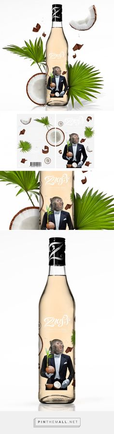 Znaps Vodka Coco Choco Shot on Behance by Acid and Marble ®, Stockholm, Sweden curated by Packaging Diva PD. The latest flavor extension design on the packaging. For the packaging smile file : )