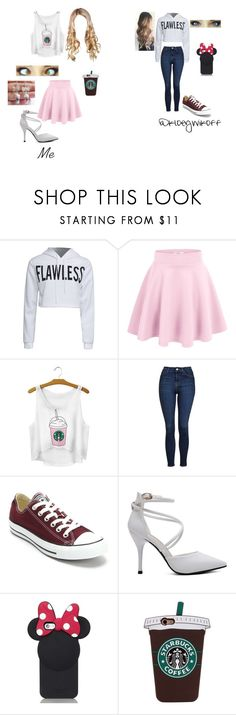 """""""Girls night #2: Beyonce Concert!"""" by i-love-cake3 ❤ liked on Polyvore featuring WithChic, Topshop, Converse and Kate Spade"""