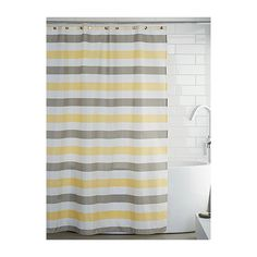 Simons Maison Mini Chevron Stripes Shower Curtain ($7.24) ❤ Liked On  Polyvoreu2026