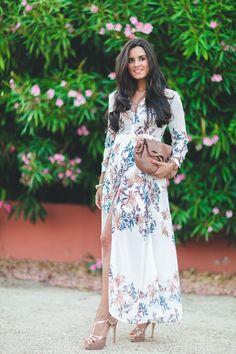 Vestido camisero largo long shirt dress bolso See by Chloe handbag Crimenes de…