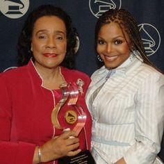 Coretta Scott King & Janet Jackson