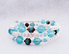 Bekijk dit items in mijn Etsy shop https://www.etsy.com/nl/listing/562236219/memory-wire-wikkkel-armband-creme-en
