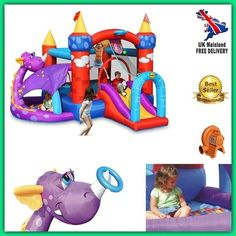 Children Bouncy Castle Slide Inflatable Kids Play Centre Outdoor Ball Pool Toys