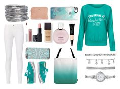 """""""teal"""" by prettyinpink681 ❤ liked on Polyvore featuring Frame, Vans, Avenue, Anne Klein, Casetify, Laura Mercier, Chanel, NARS Cosmetics and Kate Spade"""