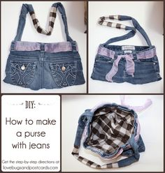 How to make a purse with jeans