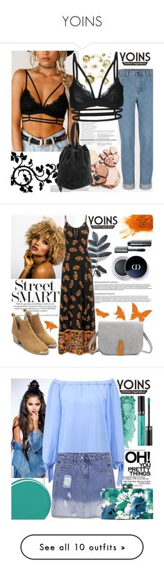 """""""YOINS"""" by gaby-mil ❤ liked on Polyvore featuring yoins, yoinscollection, loveyoins, Bobbi Brown Cosmetics, Burberry, Sephora Collection, The Gypsy Shrine, Balmain, Eve Lom and Forever 21"""