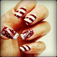 @Lucy's Stash candy came nails! #glitternails #glitter #sparklynails #sparkly #candycane #candycanenails #nails #nailvarnish #prettynails #nailpolish #notd #colourful #nail #nailart #naildesign #manicure #fashion #fashionnails #brightnails #notmine #nailfashionfix - @nailfashionfix- #webstagram