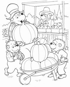 Berenstain bears coloring page6 | Berenstain bears coloring book ...