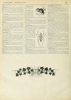 Wings of Whimsy: Noveau Larousse Illustré - M #vintage #french #dictionary #alphabet #capital #initial-kopi