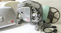 Bolex 18-5 Automatic 8mm Projector Working w/Case, Take up Reel, Instructions