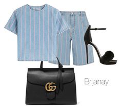 """""""Spring ready"""" by briannacollins on Polyvore featuring T By Alexander Wang, Monique Lhuillier, Gucci, women's clothing, women, female, woman, misses and juniors"""