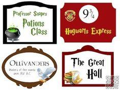 44. #gratuit imprimables - 60 #idées pour une soirée à #thème Harry Potter... → DIY