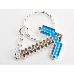 Minecraft Anahtarlık Diamond Pickaxe Anahtarlık 6,00 TL