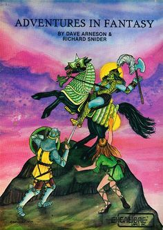 Adventures in Fantasy. An RPG from David Arneson (Co-Creator of Dungeons and Dragons) released in 1979 just after he left TSR. Published by Excalibur Games and Adventure Games.