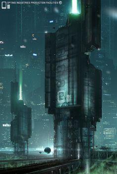 Optima Industries | #cyberpunk #scifi #darkfuture #bravenewworld