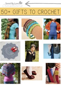 Over 50 Crochet Gifts to Make Free patterns @savedbyloves