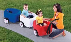 Take your little ones on outdoor excursions with the Choo-Choo Wagon & Trailer! Shop Play with a Purpose for all your wagons & ride-ons today! Kids Wagon, First Class Seats, Choo Choo Train, Multiplication For Kids, Play Centre, Ride On Toys, Activity Toys, Baby Strollers, Children