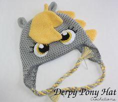 Derpy Pony Crochet Hat / Cute, Silly, Handmade, Derpy Pony Hat, Crochet Pony (MADE TO ORDER) by CrochetionsbyShell on Etsy https://www.etsy.com/listing/205445830/derpy-pony-crochet-hat-cute-silly