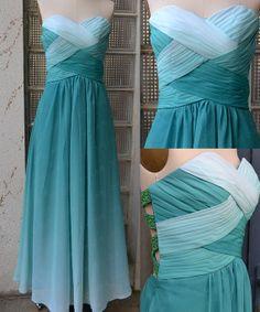 DIY Ombre Prom Dress,Custom Made Prom Dresses,Sexy Prom Dress,Chiffon Prom Dresses  :D