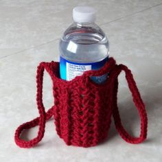 Shell Water Bottle Holder | Free Crochet Pattern ✭Teresa Restegui http://www.pinterest.com/teretegui/ ✭