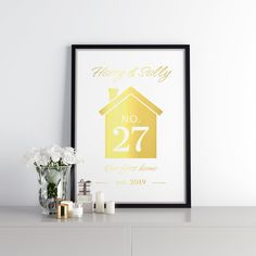 Real foil print Harry And Sally, First Home, All Print, Graphic Design, Prints, Cards, Maps, Playing Cards, Starter Home
