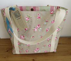 Shopper Bag, Fabric Tote Bag, Women's Shoulder Bag, Knitting Bag, Project Bag, Gift For Mum, Market Bag, Gift For Her, Emily Tote Bag - pinned by pin4etsy.com