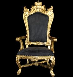 Throne chair for rent - contact 404.351.9012 or www.mcpatl.com for more information. Located in the Atlanta area. Major prop rental company