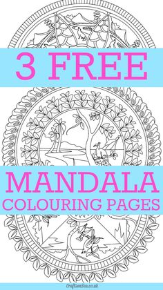 Beautiful free mandala colouring pages for adults. Download 3 designs from the Artdala Colouring Book, relaxing colouring pages with nature and animals.