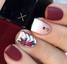 Professional nail experts craft elegant spring nails designs to complete your amazing look Every female loves to pamper herself with nail arts and a manicure and you can get the best look with beautiful nails French manicures have been loved by lad - # Nail Art Designs 2016, Nail Designs Spring, Cute Nail Designs, Pretty Designs, Maroon Nail Designs, Easy Designs, Fancy Nails, Love Nails, Chic Nails