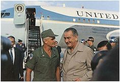 President Johnson and General Westmoreland by Air Force One at Cam Ranh Bay 12/23/67