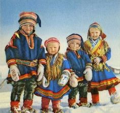 Saami children, Finland on imgfave Reindeer Craft, Lappland, Camping Crafts, My Heritage, Preschool Games, Popsugar, Arctic, Norway, Folk Art