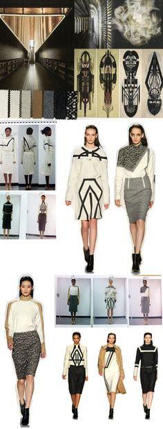 Fashion Portfolio - architectural fashion design research, samples, fashion sketchbook work & final designs; collection development // Di Wu