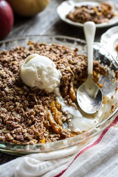 Butternut Squash, Apple + Pear Crisp | edibleperspective.com #vegan #glutenfree