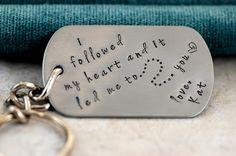 Couples Keychain key chain  I Followed My Heart by SecretSphynx, $22.50