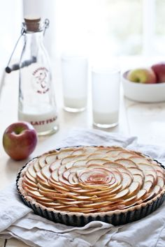 Thin Apple Tart. The site has a recipe for a delectable dinner as well, but I liked the tart best!