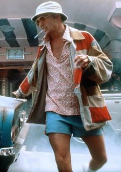 Johnny Depp, Fear and Loathing in Las Vegas, costume design by . Las Vegas Costumes, Las Vegas Outfit, Vegas Outfits, Hunter S Thompson, Fear And Loathing, Creation Couture, Mode Inspiration, Looks Cool, Mode Style