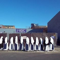 Sisters of Life praying in front of Abortion Clinic. This is so powerful!
