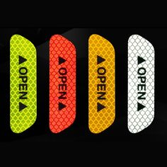 Hot Sales Colorful Reflective Tapes Glow Self-adhesive Sticker Luminous Fluorescent Glowing Tapes Dark Striking Warning Tape Roadway Safety