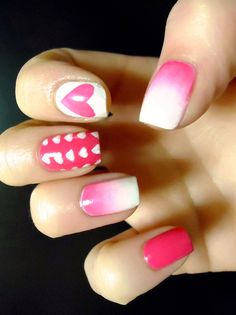 Valentines Nails<3