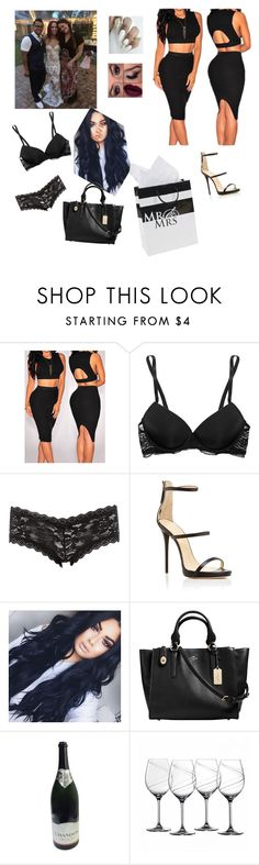 """""""going to Sasha's wedding"""" by kananae ❤ liked on Polyvore featuring Calvin Klein Underwear, Charlotte Russe, Giuseppe Zanotti, Coach and Royal Doulton"""