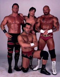 Chris Benoit (deceased), Eddie Guerrero (deceased), Perry Saturn and Dean Malenko, The Radicals.