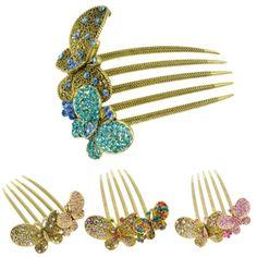 Vintage European Style Rhinestone Embellished Hair Comb Hair Pin Clip