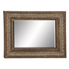 Found it at Wayfair - Metal and Wood Wall Mirror