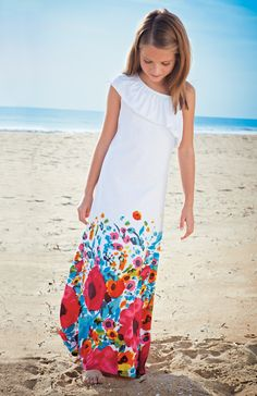 From CWDkids: Floral Maxi Dress.
