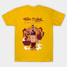 Shop Wine O'Clock - Burgundy and Orange Version wine oclock t-shirts designed by kenallouis as well as other wine oclock merchandise at TeePublic. Woman Wine, Cool Graphic Tees, Wine O Clock, Oclock, Wine Gifts, Cool T Shirts, Artworks, Shirt Designs, Burgundy