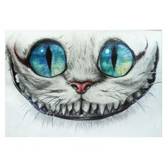 "Inspired by Tim Burton's Design of the Cheshire Cat in his version of ""Alice in Wonderland"" Media: 2B,4B,H, and No.2 pencils, Prismacolor colored Pencils, blac…"